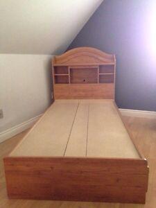 Tête et base de lit Simple