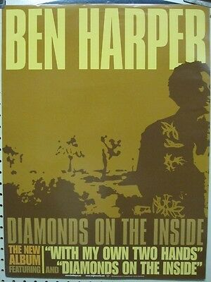 BEN HARPER 2003 diamonds on the inside promo poster ~NEW & MINT~!!