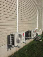 Ductless mini split heat pumps, air conditioning heating.