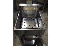 Valentine V400 Electric Fryer Single Tank Twin Basket Three Phase