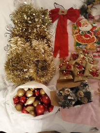 lots of christmas decorations some new and used