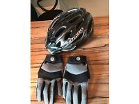 Giro rift mountain bike helmet and gloves