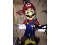 """Super Mario DS or phone or console holder, 14"""" Statue!"""