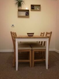 Dinning table + 4 chairs, Ikea