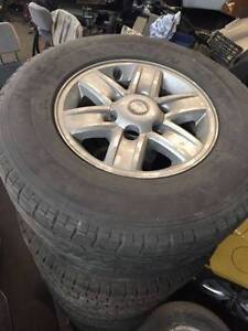 """15"""" 6 Stud Wheels and tyres Holden Isuzu Ford Mazda Mitsubishi Nerang Gold Coast West Preview"""