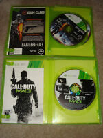 XBOX 360 Games with Manuals