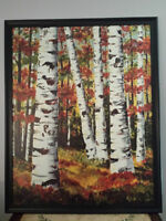 Birch Trees oil painting $60