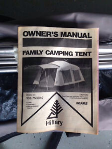 Hilary 2 room tent (family tent)
