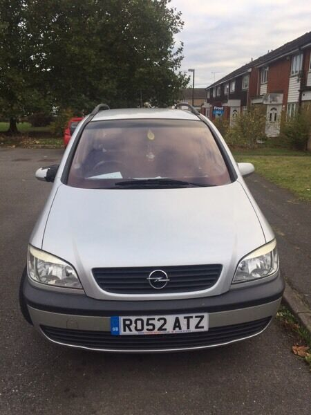 Zafira silver family car