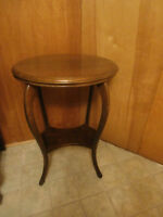 Antique accent table,heavy,good condition.