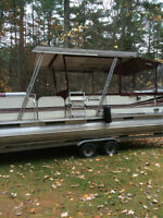 24 FOOT STERNDRIVE PONTOON BOAT
