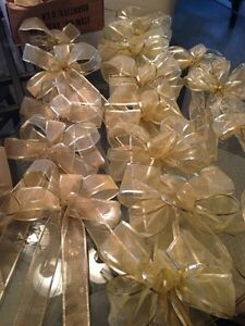 New Gold Christmas Bows made by a Designer. Kitchener / Waterloo Kitchener Area image 1