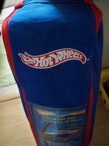 NEW HOT WHEELS BED FOLD UP AIR BED WITH CARRYING CASE