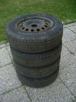 195/65/15 Hankook H724 All-season Tires on 5x114.3mm Steel Rims