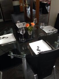 Barker and Stonehouse glass table