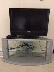 Tv and tv table  $80