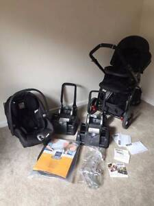 Peg Perego Stroller+Capsule+2 bases+Bootcover+Raincover Spearwood Cockburn Area Preview