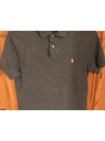 Light blue and grey men's Ralph Lauren Polo Shirts Size M