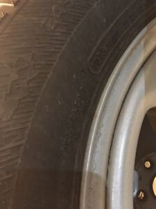 4 snow tire's on rim's Kingston Kingston Area image 2