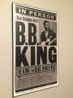 BB King Collectible Poster - Wood Mounted