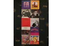 Well known vinyl singles x10