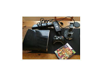 Microsoft Xbox 360 S 250 GB Black Console with 1 official controller, Kinect sensor + 1 game