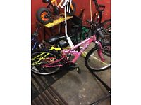Girls pink mountain bike for sale