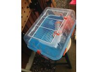 Hamster Cage & Small Blue Ball