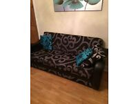 Two large sofa settees new