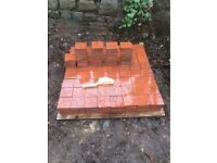 Reclaimed 4x4 inch VICTORIAN RED QUARRY TILES
