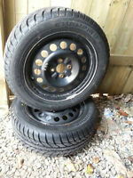 Almost brand new winter tires 195 55R15 on rims $350 OBO