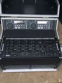 Dual CD players with flight case