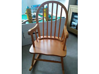 Toddler / Child's pine rocking chair, excellent condition