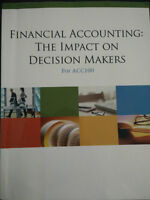 Financial Accounting:The Impact On Decision Makers  For ACC100