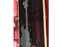 Fender Aerodyne Jazz Bass Guitar with Tweed Hard Case