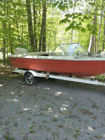 16' Sunray with 100HP Johnson and Trailer