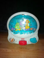 Fisher price crib aquarium