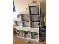 Ikea storage units with boxes x 2