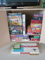 Large selection of games, puzzles and books