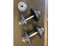 Spinlock Dumbbell Kit (40kg + bars).