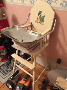 Antique High Chair and Sewing Stool Peterborough Peterborough Area image 2