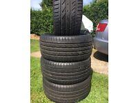 255 35 19 tyres atrezzo like new 8mm