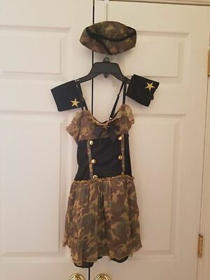 Girl Target Military Army Halloween Costume Dance Dress Hat Size M - Target Girls Halloween Costumes