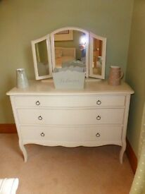 Lovely John Willis & John Lewis solid wood chest of drawers and bedside table cost over £1000