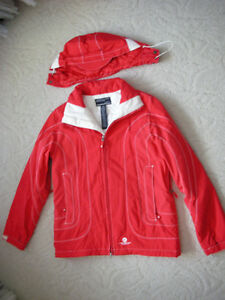 Women's Red & White AMERICAN EAGLE Winter Jacket Coat w/ Hood Windsor Region Ontario image 1