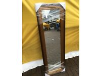 gold ribbed full length framed mirror