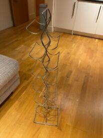Stylish metal wine rack for 12 bottles