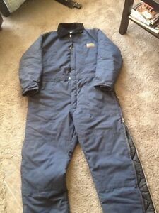 Warm insulated coveralls