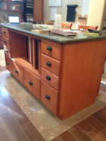 Kitchen cabinetry & countertop island REDUCED w/ incentive