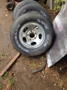 "Dodge Ram 15"" rims with tires $200 obo"
